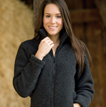 Wollfleece Jacke Anthrazit